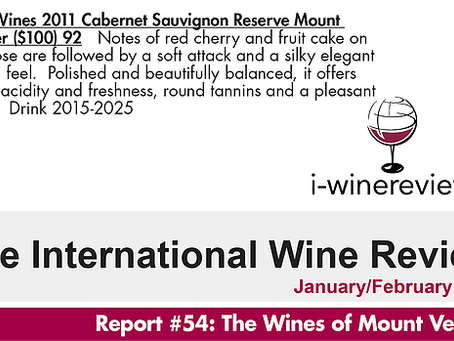 92 POINTS - The International Wine Review