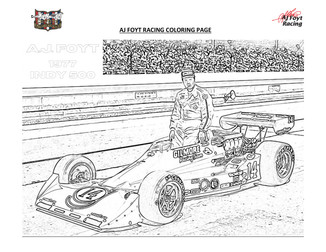 AJFR COLORING PAGES_AJ 77 INDY 500
