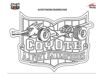 AJFR COLORING PAGES_COYOTE LOGO