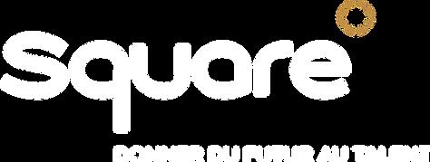 Square logo blanc avec signature RVB HD.