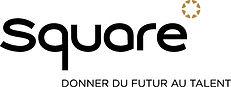 Square logo noir avec signature RVB BD.j