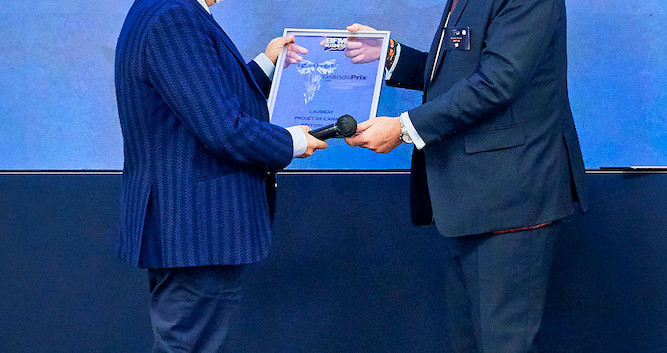 Danier Harari (PDG Lectra) et Vincent Rouaix (PDG Inetum)
