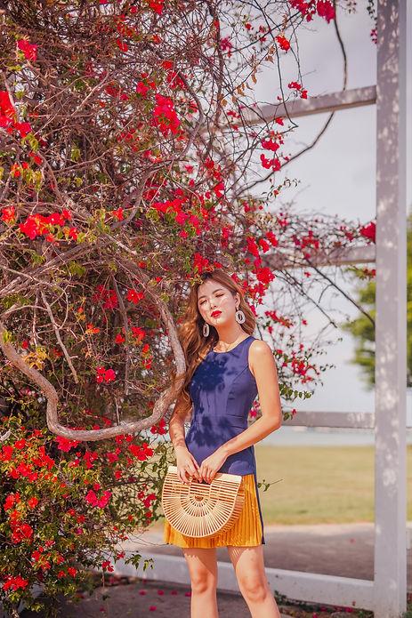 Vibrant colourful fashion photoshoot