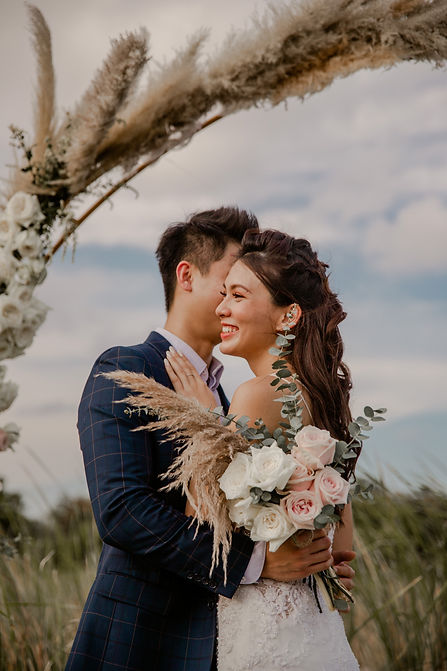 Outdoor wedding photoshoot nature