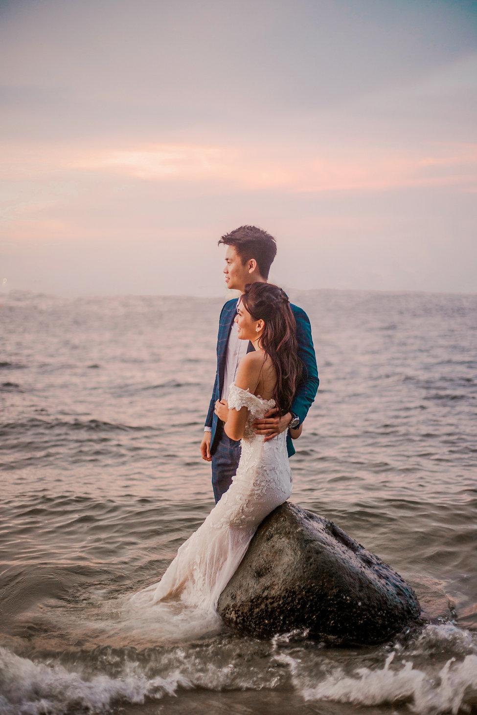 Pastel sunset wedding photoshoot
