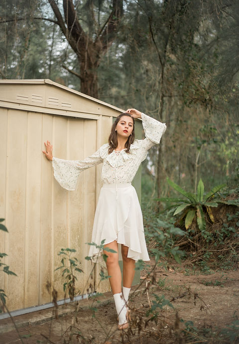 Ethereal white pastel clothing photography