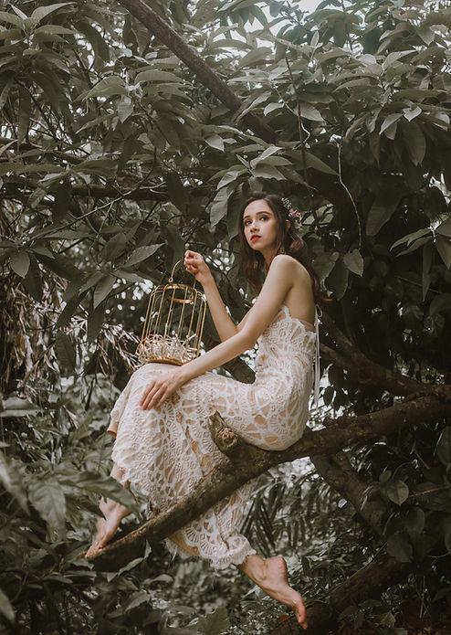 Bohemian Outdoor bridal photography