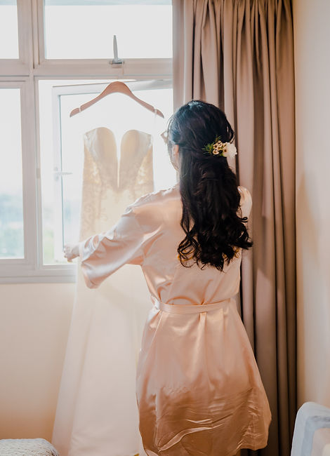 Bridal robe and gown