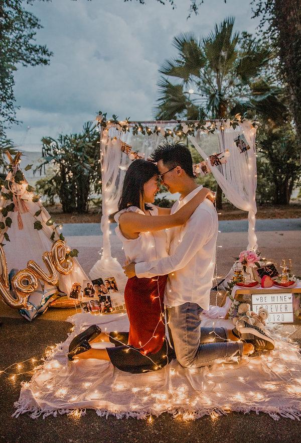 Wedding proposal outdoor photoshoot Singapore