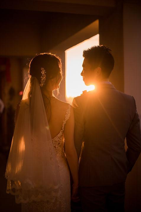 Sunrise morning wedding photography
