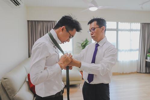Wedding preparation groomsmen