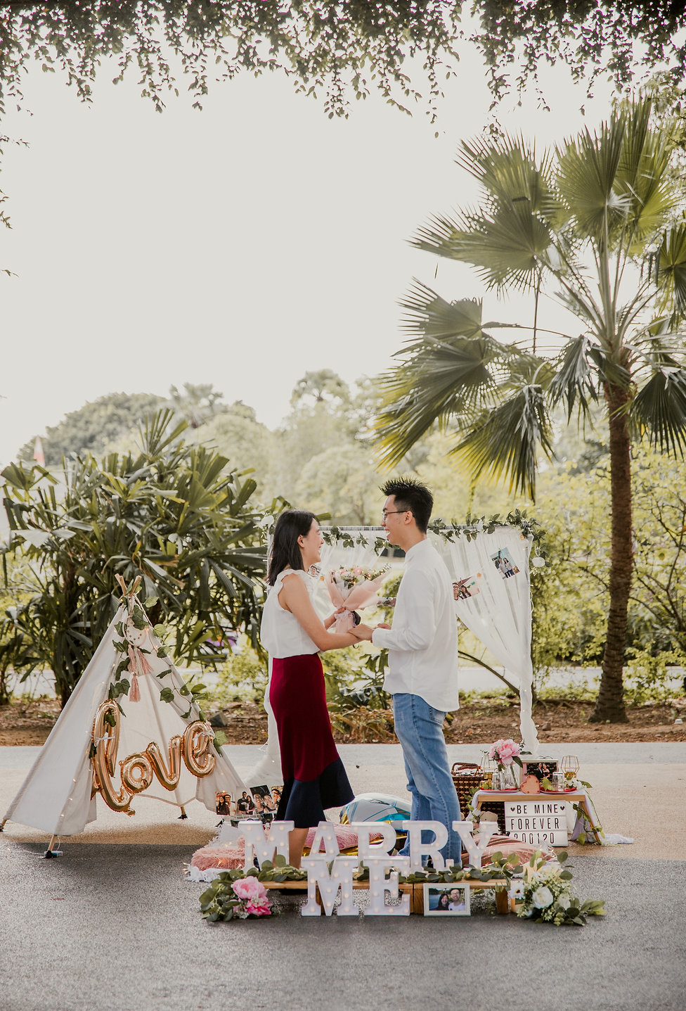 Wedding proposal outdoor photoshoot Singapore