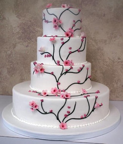 Japaneese Cherry Blossom Cake