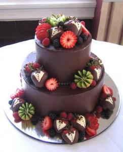 Kiwi and Strawberry Cake
