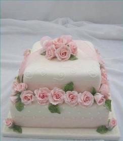 Light Pink Flower Cake