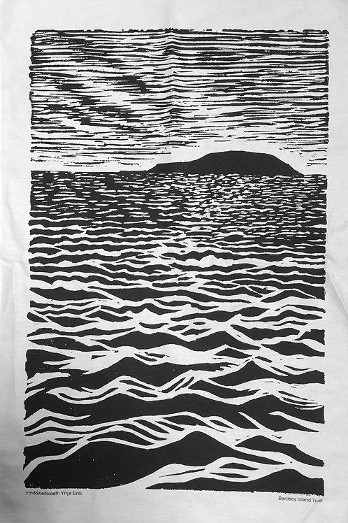 Lliain sychu llestri Enlli / Bardsey Island Tea Towel