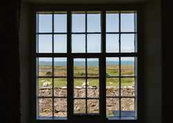carreg fawr view through window