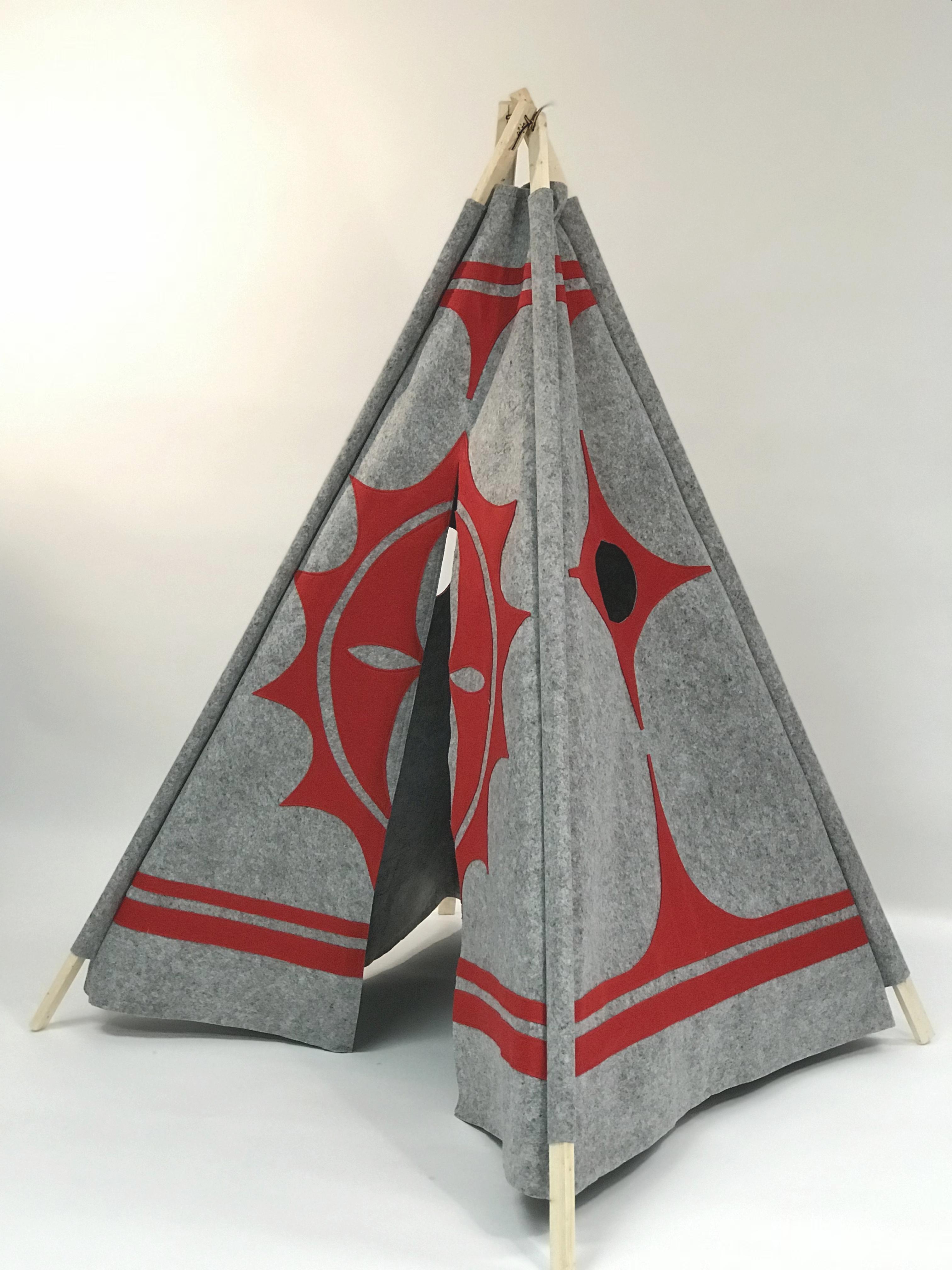 Gray/Red Hopi Teepee $189