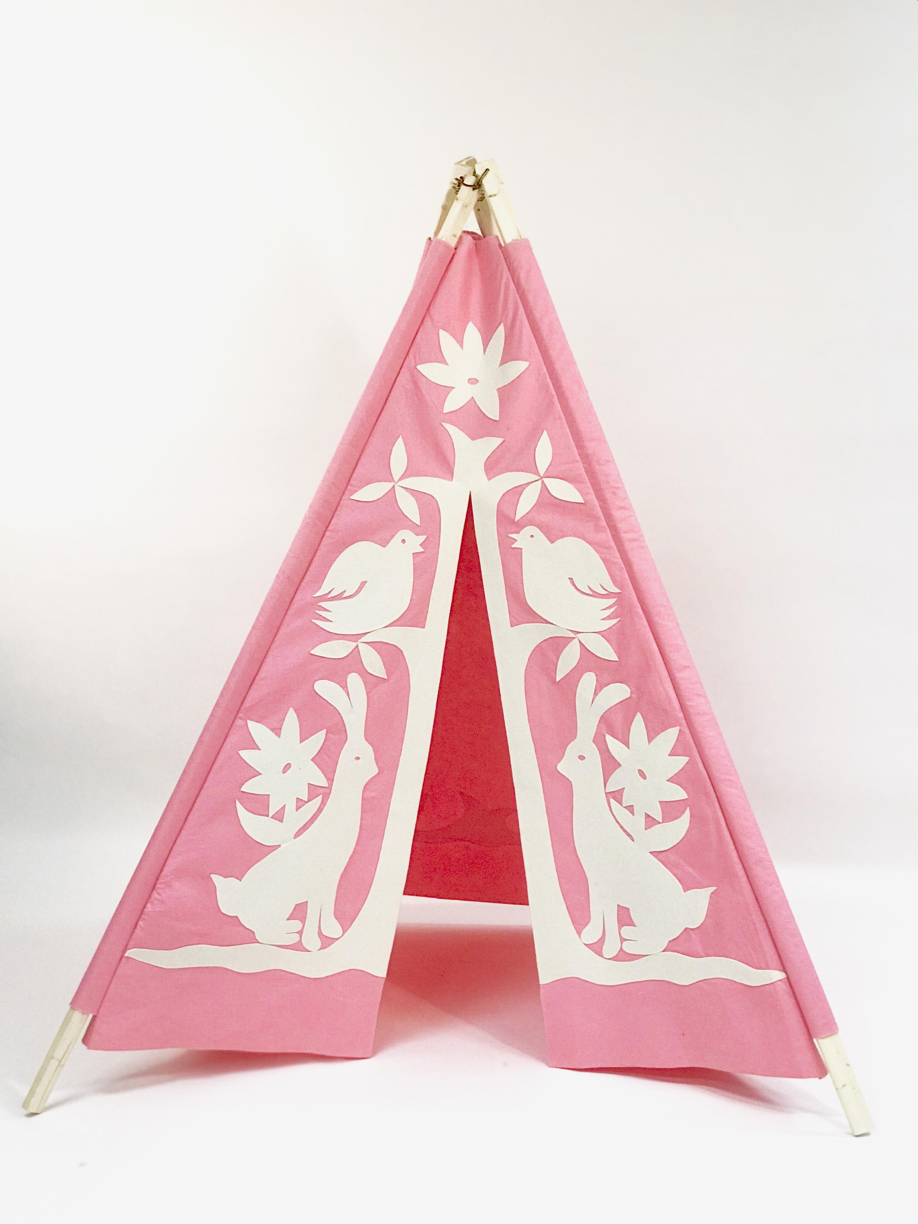 Pink/White Otomi Teepee $189