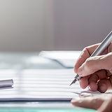 Document avec stylo