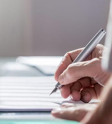 Documento con la penna
