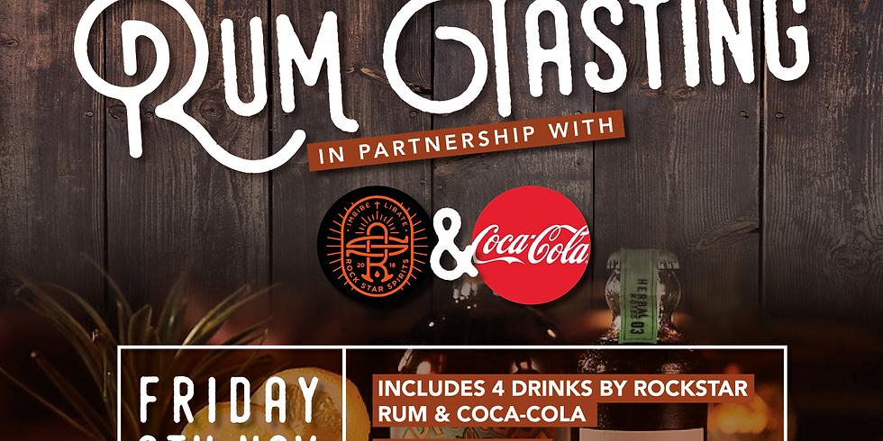 Rum Tasting & Tapas Night in partnership with Rockstar Spirits & Coca-Cola