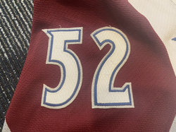 2000-2001Foote52I-2Left Arm Numbers