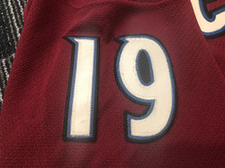 2001-2002Sakic19Right Arm Numbers