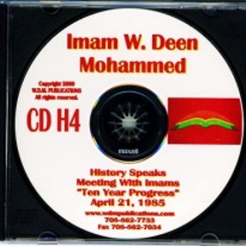 Ten Year Progress - Imams Meeting