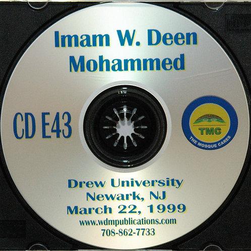 Imam W Deen Mohammed Speaks at Drew University