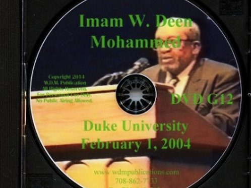 Imam W Deen Mohammed Speaks at Duke University