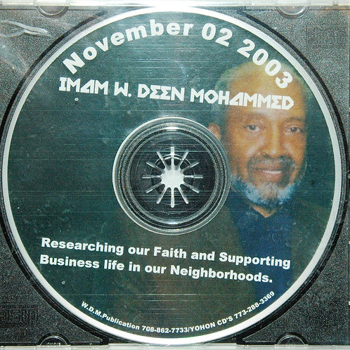 Nov 2003 | Researching Our Faith for the Business Life in Our Neighborhoods