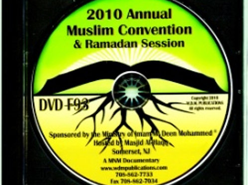 2010 Muslim Convention & Ramadan Session sponsored by The Mosque Cares