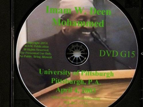 Imam W Deen Mohammed Speaks at University of Pittsburgh