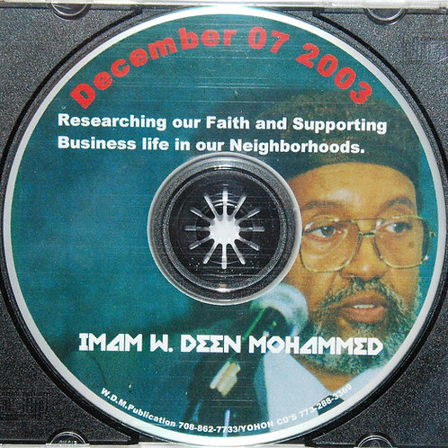 Dec 2003 | Researching Our Faith for the Business Life in Our Neighborhoods