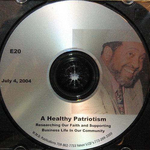 A Healthy Patriotism