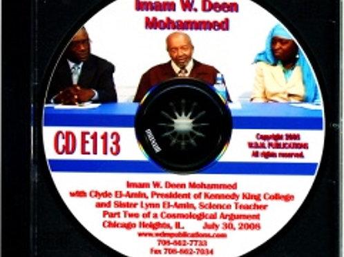 Imam W. Deen Mohammed with Clyde El-Amin and Lynn El-Amin Muhammad