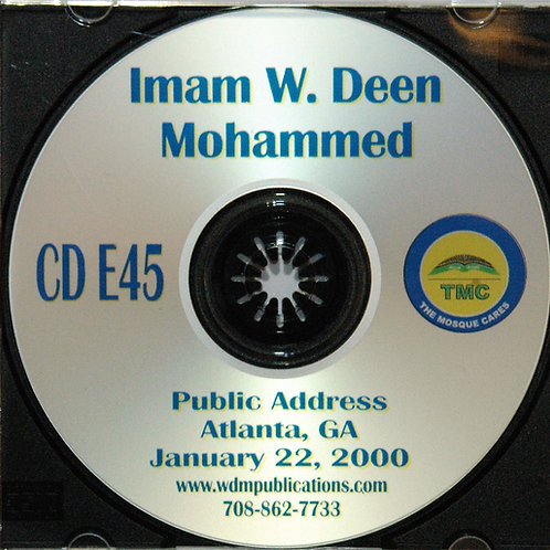 Imam W Deen Mohammed Atlanta Public Address