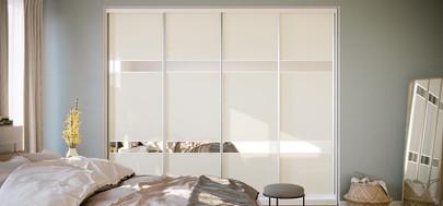 ШКАФ КУПЕ с фасадами из стекла с зеркаль