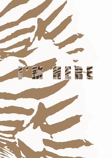 HELA - Zebra - I'M HERE - GULD o VIT BAK