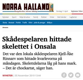 Skådespelaren hittade skelettet i Onsala