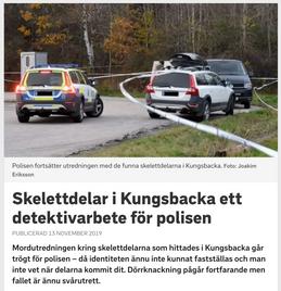 Skelettdelar i Kungsbacka ett detektivarbete för polisen