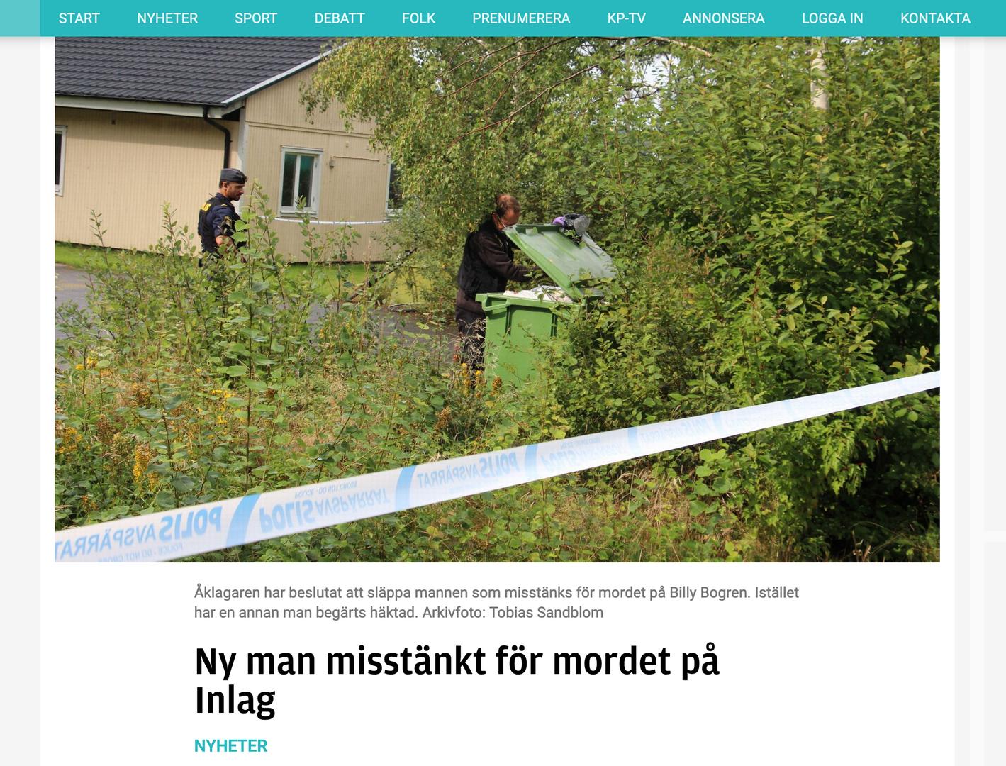 Ny man misstänkt för mordet på Inlag