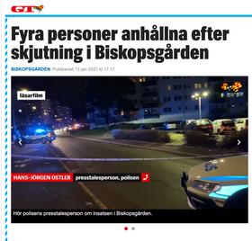 Två män hittades skjutna i Biskopsgården i Göteborg.