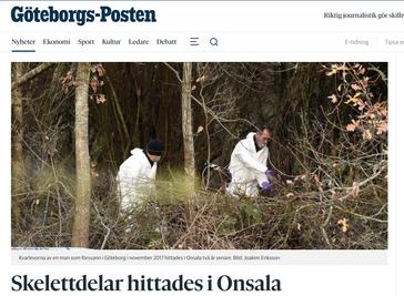 Skelettdelar hittades i Onsala – har identifierats som försvunnen göteborgare