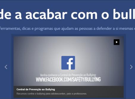 Facebook cria plataforma para combater o bullying