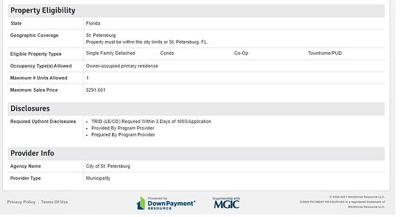 DPA property elig.disclosures.provider.p