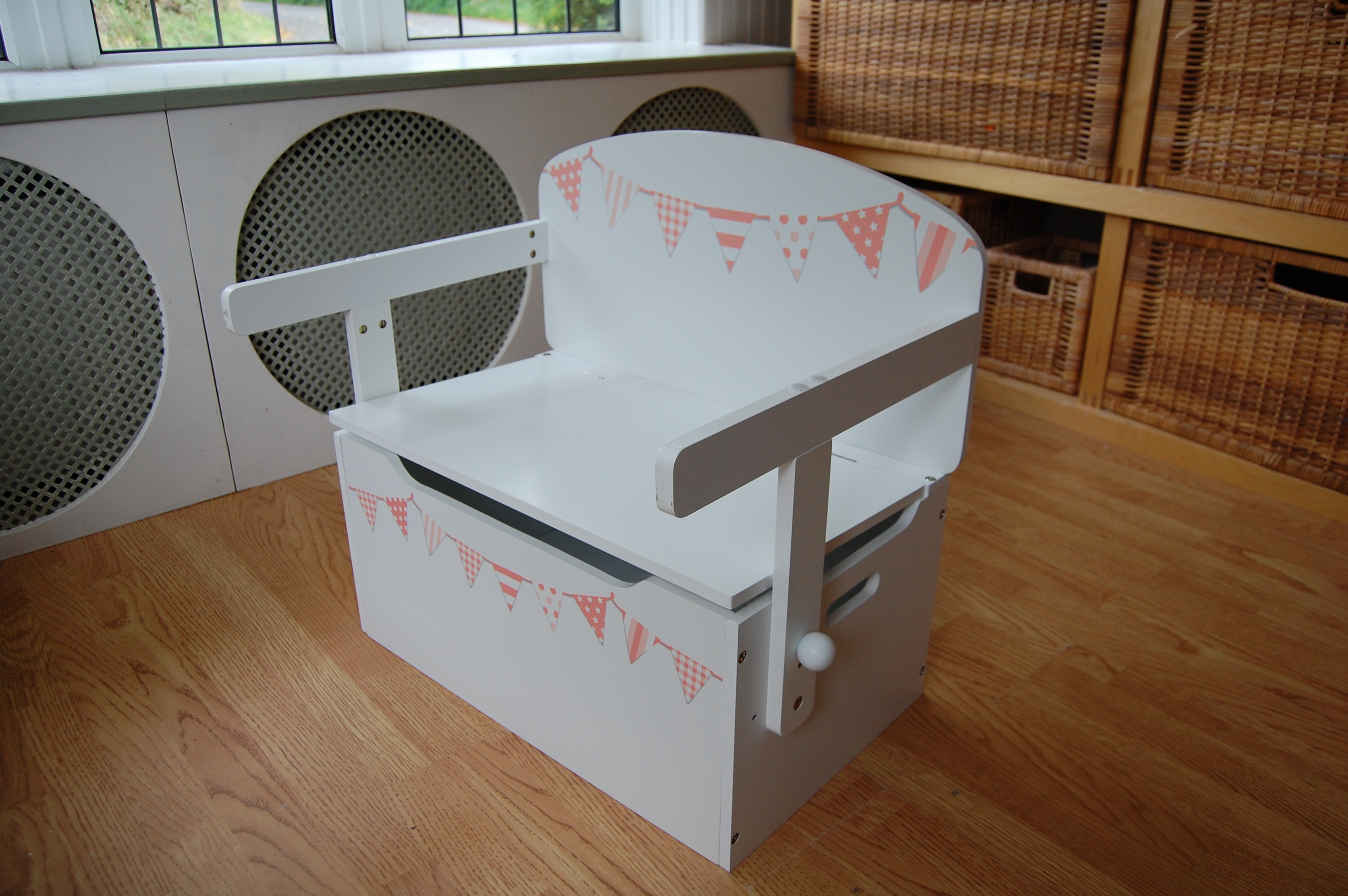 As a toy storage box & bench seat