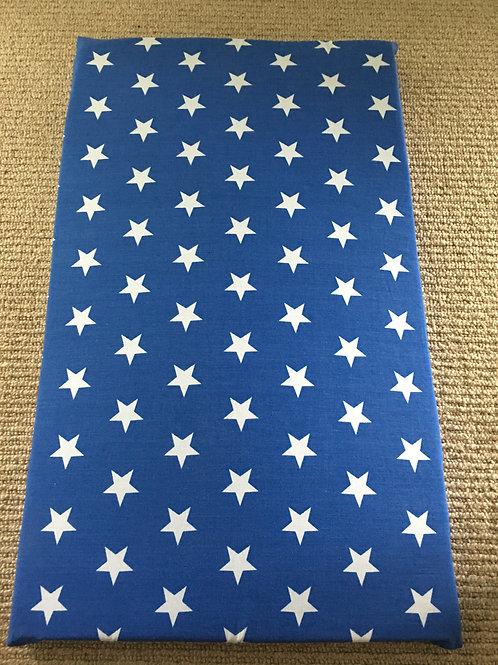 Blue & White Stars cushion