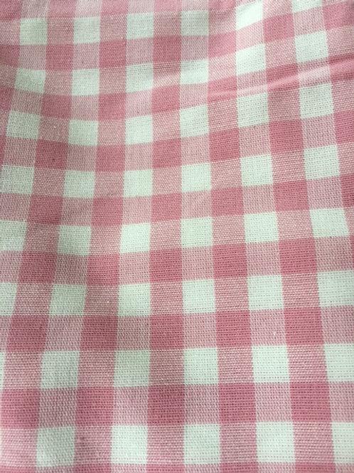 Peachy Pink Gingham Cushion